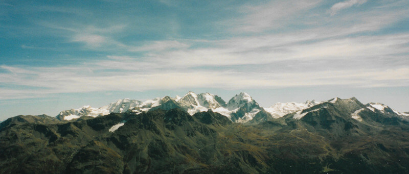 Vue panoramique depuis le sommet du Piz Nair