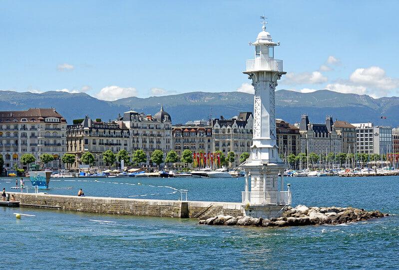 Le lac Léman à Genève