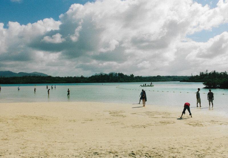 La plage de l'île aux cerfs