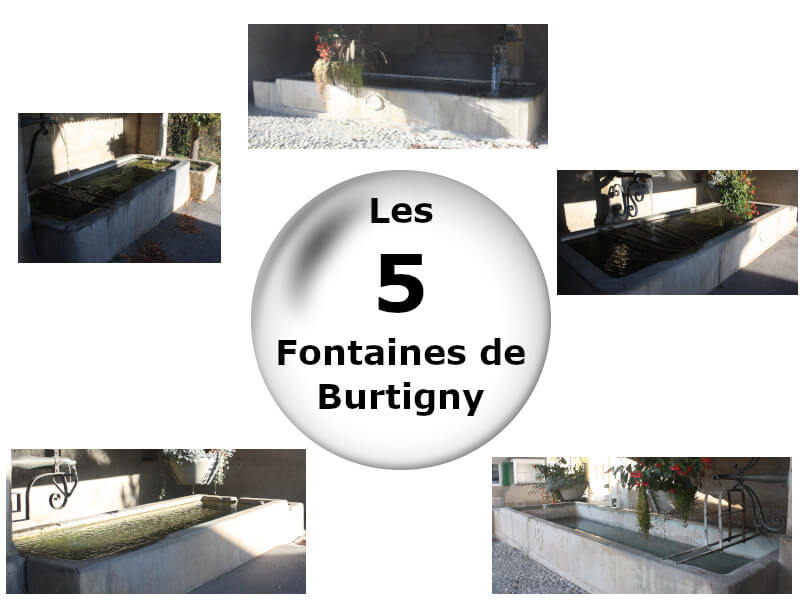 Vignette - Les cinq fontaines de Burtigny