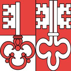 Le drapeau du canton d'Unterwald