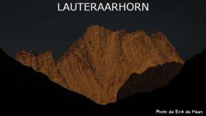 33ème sommet le premier du canton de Berne - Le Lauteraarhorn