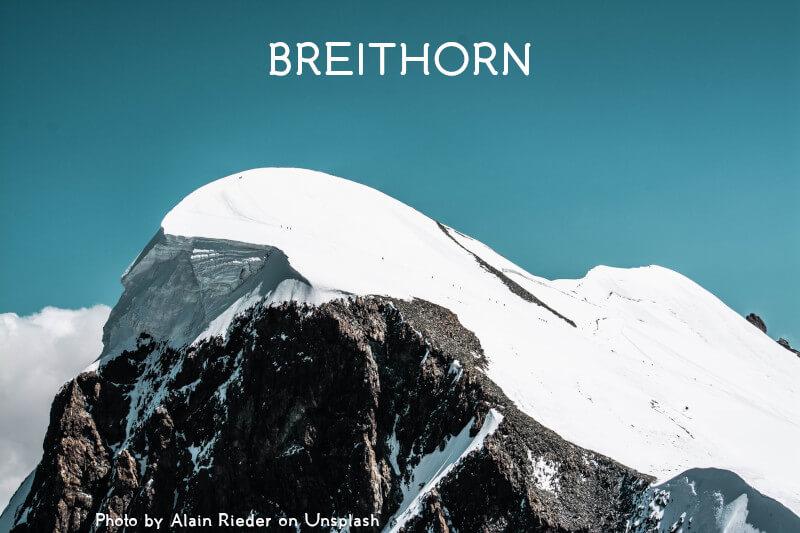 Le sommet du Breithorn