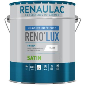 Reno'lux satin est une peinture laque acrylique satinée tendue haute résistance. Travaux de finition A. Haute qualité de finition !