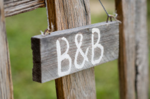 Closeup Of Old Signboard Bed & Breakfast AirBnB VRBO