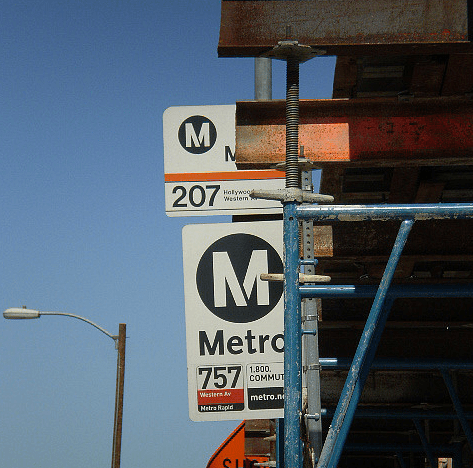 Some Metro signs during the construction of Solair