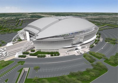 AEG says they're drawing inspiration from the Dallas Cowboys new stadium.  Apparently that inspiration doesn't include a giant parking lot.