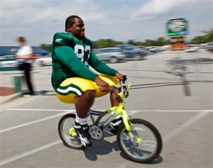 Of course, its not just the fans that might want to ride to the game...Photo: Associated Press
