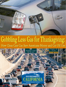 To view the report, click ##http://www.environmentcalifornia.org/uploads/a6/6c/a66c8704ccb83d8df1025ec981157cda/CA.Gobbling-Less-Gas-for-Thanksgiving-report.pdf##here.##