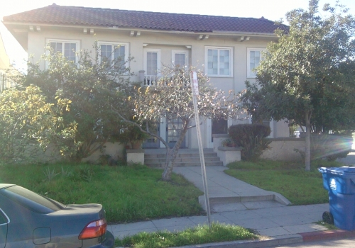 L.A. Eco-Village is in escrow for this fourplex at the southeast corner of White House Place and Bimini Place.  Find out how to help them at the link below.