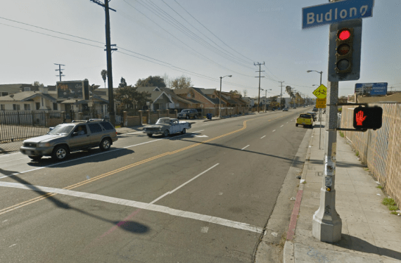 Vernon and Budlong. Google map screen shot.