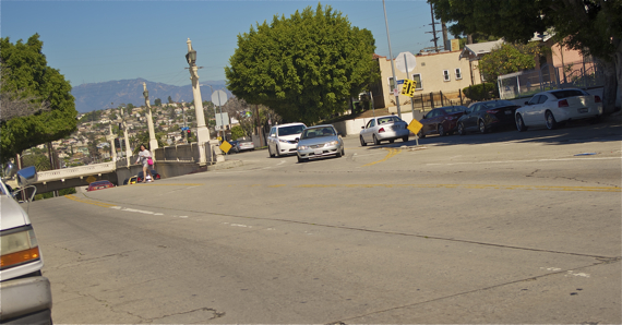 There are no crosswalks for almost 1000 ft. for someone heading south onto Lorena from 4th St. Sahra Sulaiman