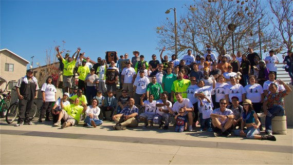 Almost 100 riders made the Tour de Watts special this year. Sahra Sulaiman/LA Streetsblog