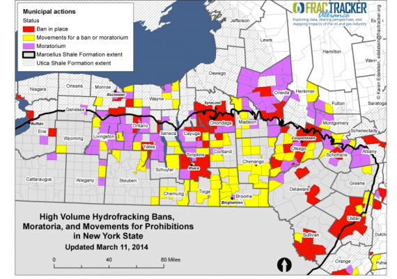Map of fracking legislation in NY. Source: http://www.fractracker.org/map/ny-moratoria/