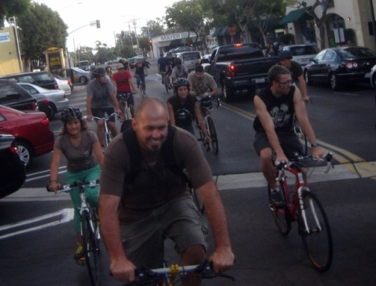 Riders enjoying BikeSD's 2012 Ride, Dinner and Bikes event photo: BikeSD