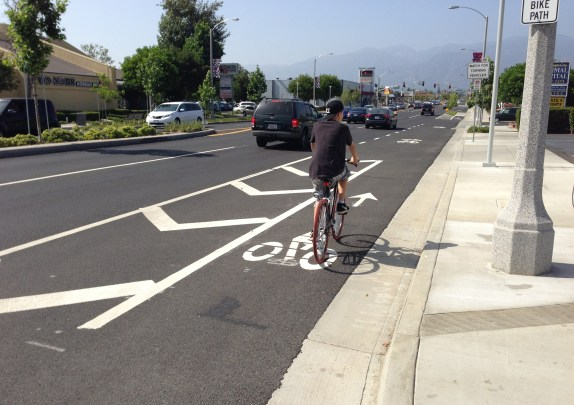 Stretches of the project include buffered  bike lanes.