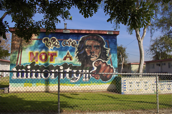 One of the many historic murals at Estrada Courts on Olympic Blvd. Sahra Sulaiman/LA Streetsblog