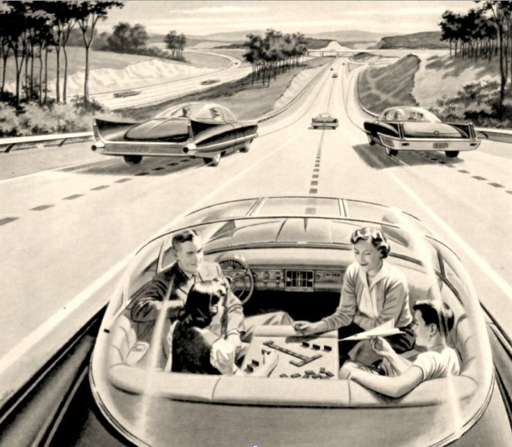 What the driverless car used to look like, back in the 1950s.