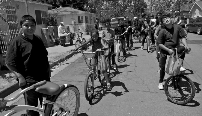 The next generation of riders takes to the streets of South L.A. Sahra Sulaiman/Streetsblog LA