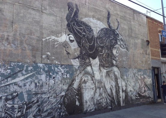 Mural on 4th Street in Downtown L.A. Arts District