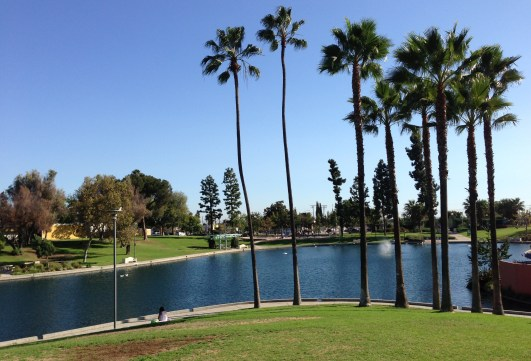 The lake at East L.A. Civic Center Park. All photos: Joe Linton/Streetsblog L.A.