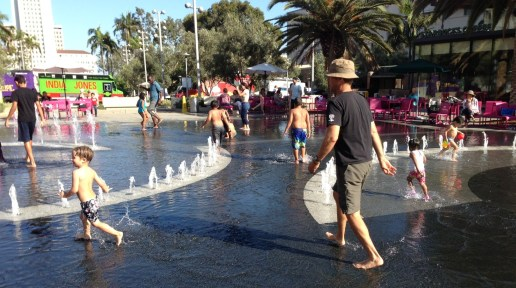 Grand Park's splash pad is awesome!