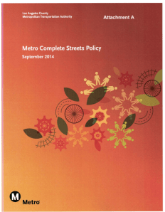 Cover of proposed Metro Complete Streets Policy, approved by Metro's Sustainability Committee today. Image via Metro, full report here.