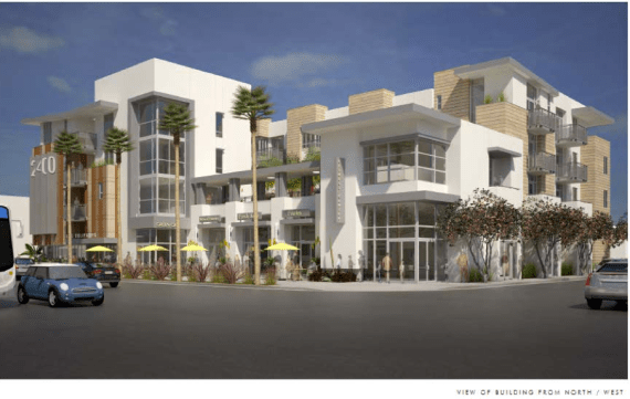 Rendering of senior housing planned for 1st and Soto. Source: Metro