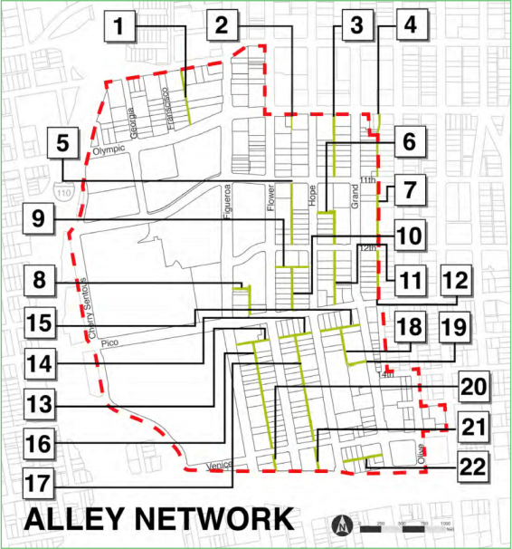 The BID has identified 22 alleys that could be transformed in South Park.