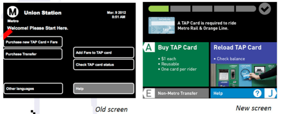New Metro vending machine screens to debut at Union Station this month. Image via Metro handout