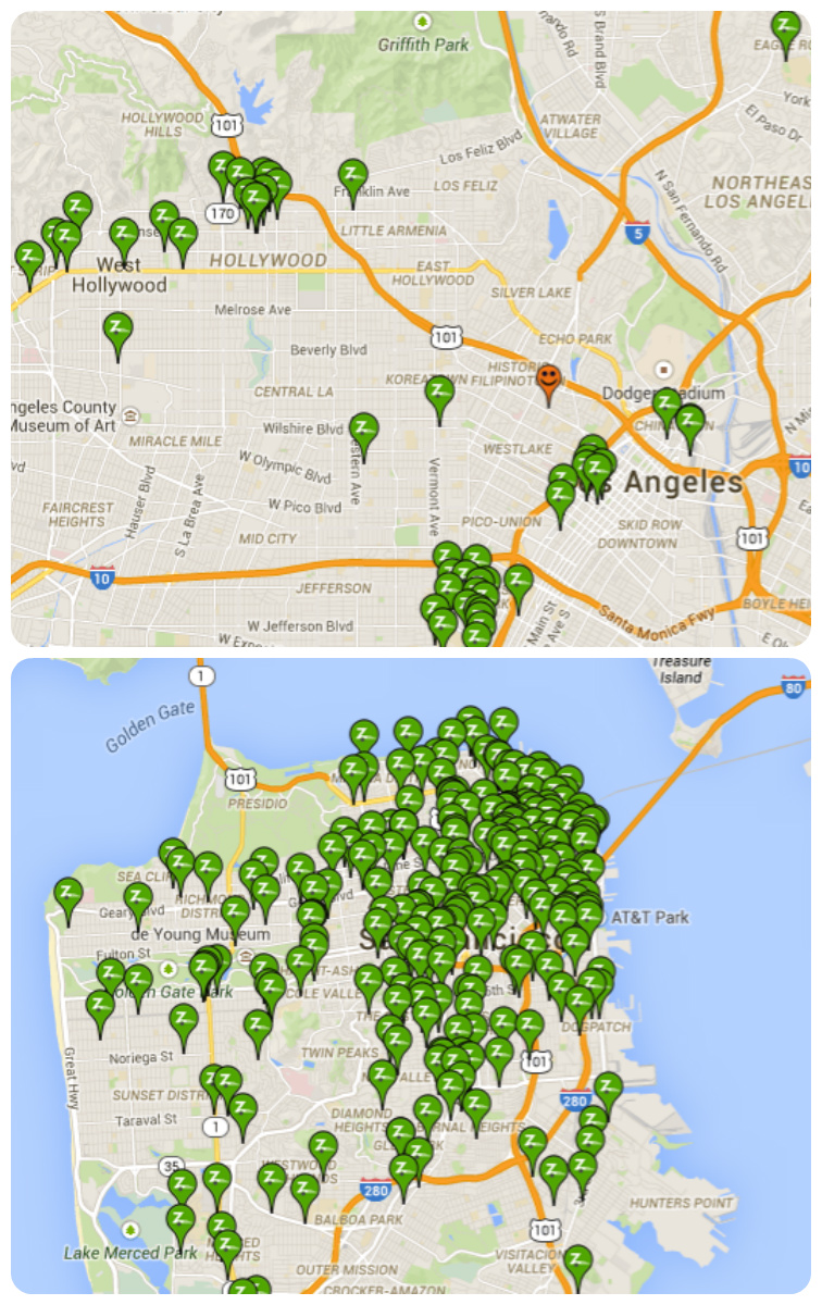 LA Tied For Th In CALPIRG US City Wired Transportation Report - Los angeles map silver lake