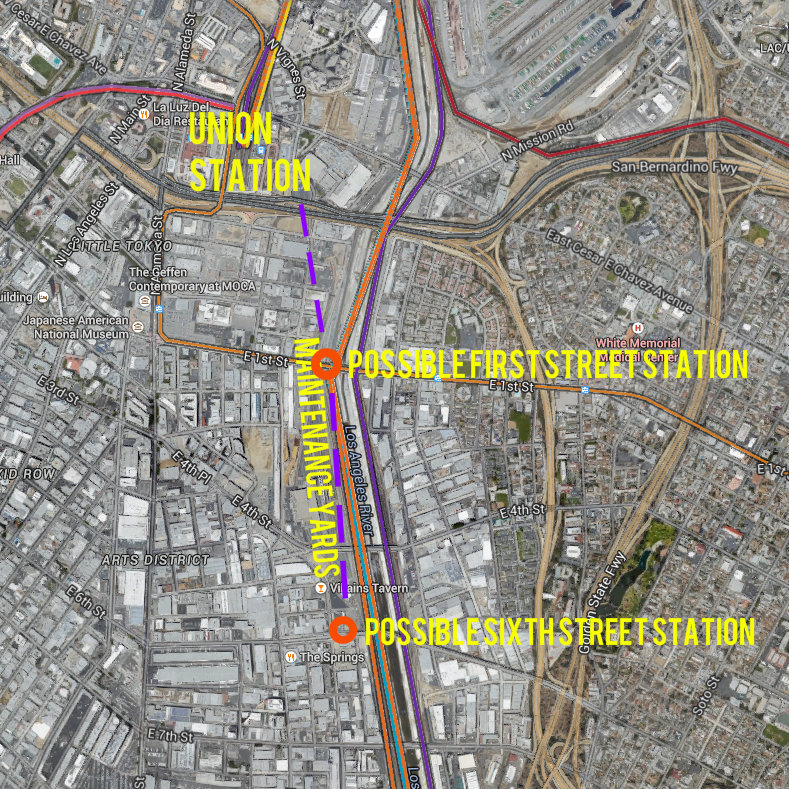 Red Line Los Angeles Subway Map.Metro Studying Arts District Red Purple Line Subway Extension