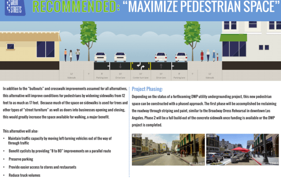 The current iteration of the Great Streets plan for Central Ave. between Washington and Vernon. Source: Great Streets