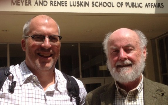 Joe Linton and Donald Shoup. Photo: Streetsblog L.A.