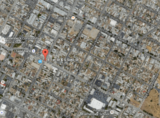 Boyle Heights needs more trees, both to provide shade and help clean the air. (Google maps)