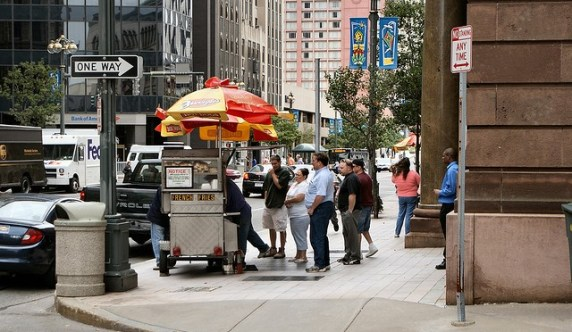 Food vendor in Rochester NY. Photo via Robert Torzynski Flickr