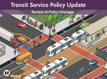 Metro's Transit Service Policy Update is summarized in this presentation [PDF]
