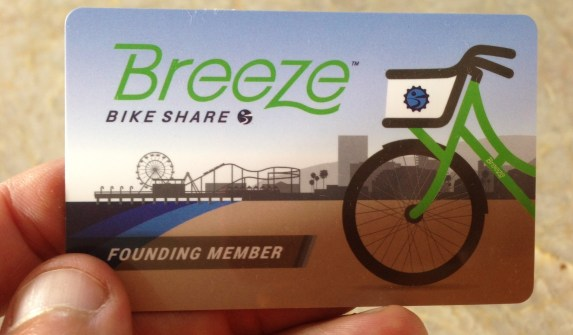Breeze member card (which I actually didn't use, favoring my TAP card)