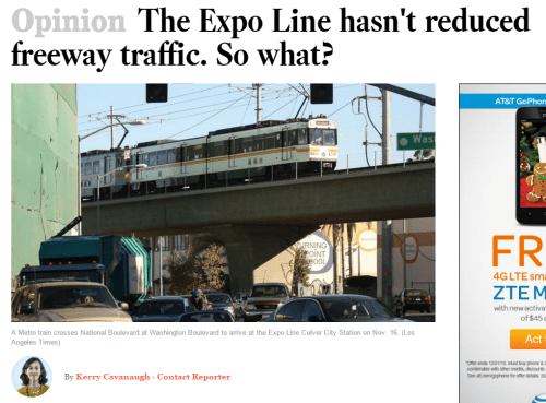 Kerry Cavanaugh on the Expo Line's success