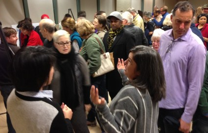 Last night's Expo Bikeway meeting. Photo: Joe Linton/Streetsblog L.A.