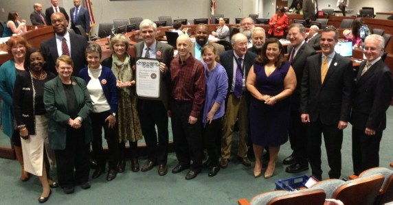 Friends 4 Expo Transit honored at today's Metro Executive Committee meeting. Photo: Joe Linton/Streetsblog L.A.