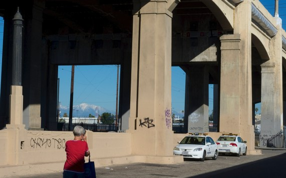 People of all walks of life have been spotted making the pilgrimage to the bridge for photos of its last days. Sahra Sulaiman/Streetsblog L.A.