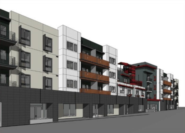 The Meridian Apartments would replace a commercial building and surface parking less than a block from the Vermont/Beverly Red Line station. The proposed ballot initiative would put an end to similar projects.