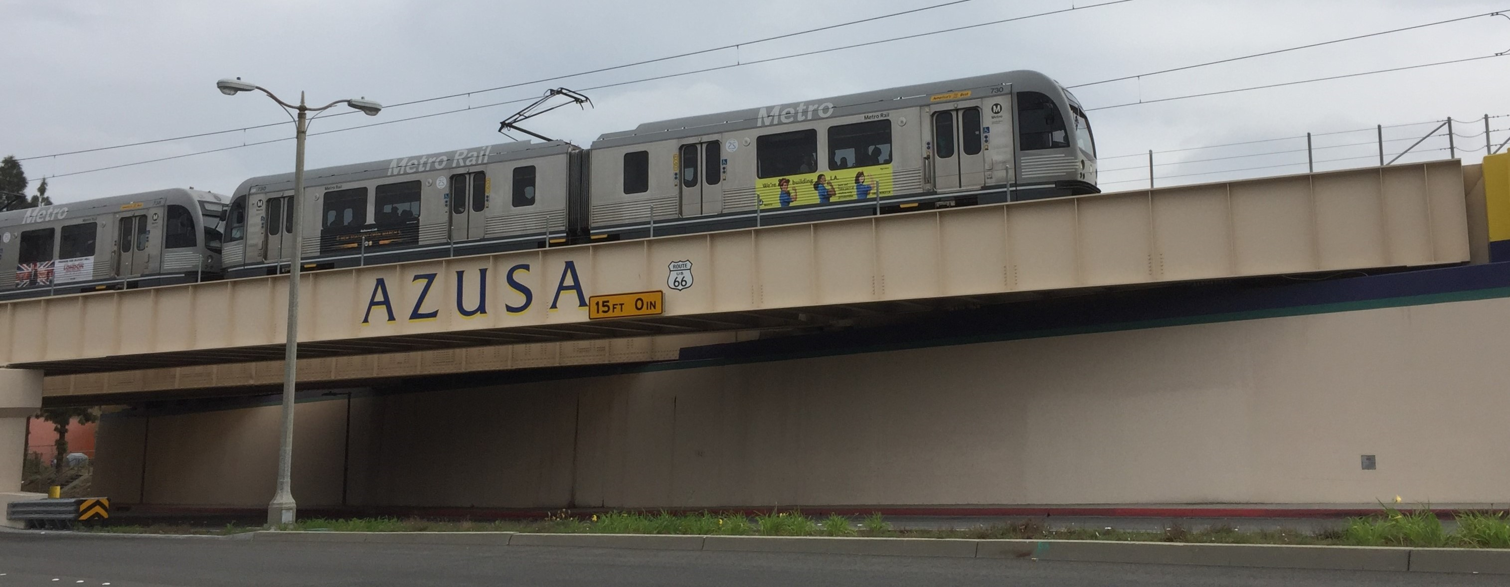 The Metro Gold Line has arrived in Azusa. Photos by Joe Linton/Streetsblog L.A. except where noted