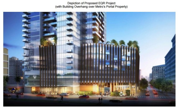 Proposed 4th and Hill development in downtown Los Angeles
