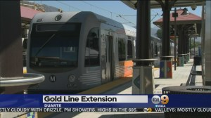 There's going to be a lot more media events, for a lot more rail station openings, if Metro and voters approve the sales tax plan outlined in the Times. Image: ##http://losangeles.cbslocal.com/2016/03/05/metro-unveils-1-billion-gold-line-extension-through-san-gabriel-valley/##CBS2##