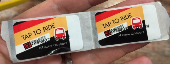 Under a new student pass program, Metro plans to shift to more convenient stickers on student ID cars, instead of student TAP cards. Photo: Joe Linton/Streetsblog L.A.