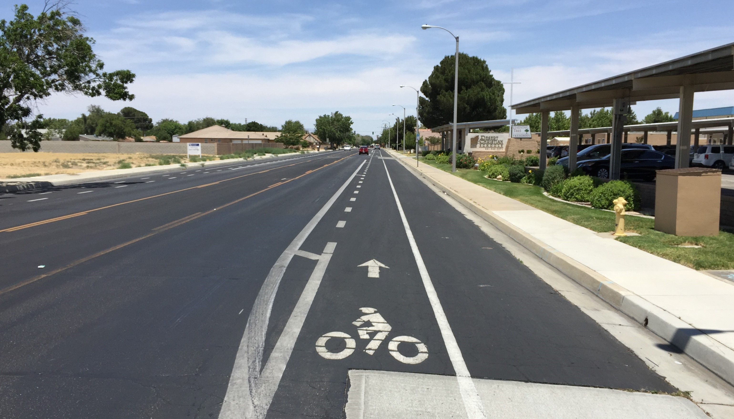 Road diet bike lane on 15xxx