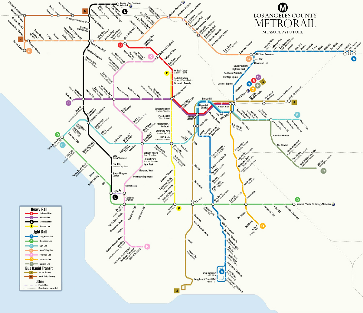 Measure M rail and BRT network. Image by xxx