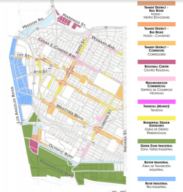 Proposed zoning for Boyle Heights. Click to enlarge. Source: Dept. of City Planning